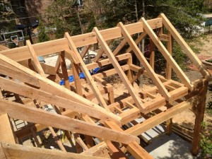 Common Rafters Installed -- East Wing