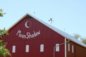 As a finishing touch, we've painted a custom emblem at one gable end, displaying the farm's logo