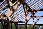 New Timberframe Building, Salvaged Timbers