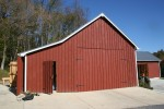 Historic Corn Crib Adaptively Reused for Equipment and Material Storage Facility