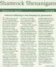 Newsletter of the Shamrock Restaurant, Vol. 33, Issue 2, Fall 2010